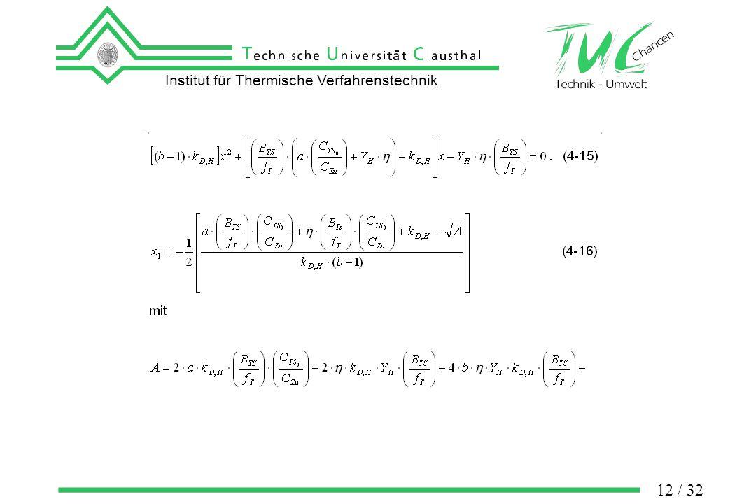 Institut für Thermische Verfahrenstechnik 12 / 32