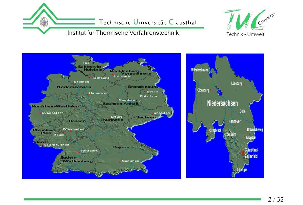 Institut für Thermische Verfahrenstechnik 3 / 32 municipal wastewater treatment plants