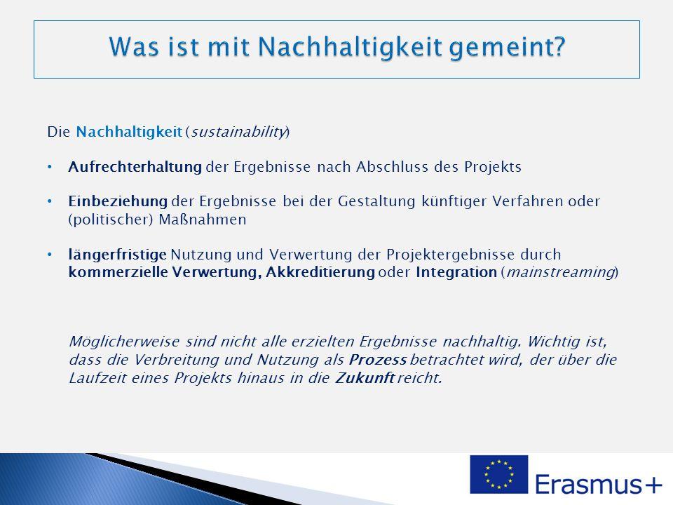 Nutzungsplan zu Beginn des Projekts Definition der Mechanismen zur Verwendung, Generalisierung und Integration der Ergebnisse Mittel Die Mittel sind abhängig vom Projektergebnis.