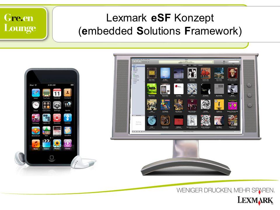 Lexmark eSF Konzept (embedded Solutions Framework)
