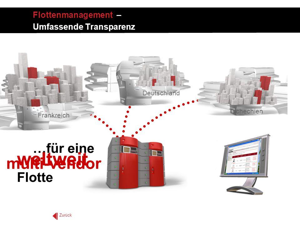 …für eine Flotte multi-vendor Frankreich Deutschland Tschechien weltweit Zurück Flottenmanagement – Umfassende Transparenz