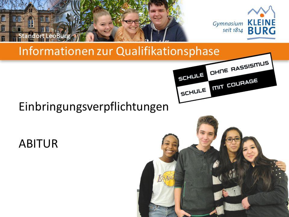 Standort LeoBurg Informationen zur Qualifikationsphase Einbringungsverpflichtungen ABITUR