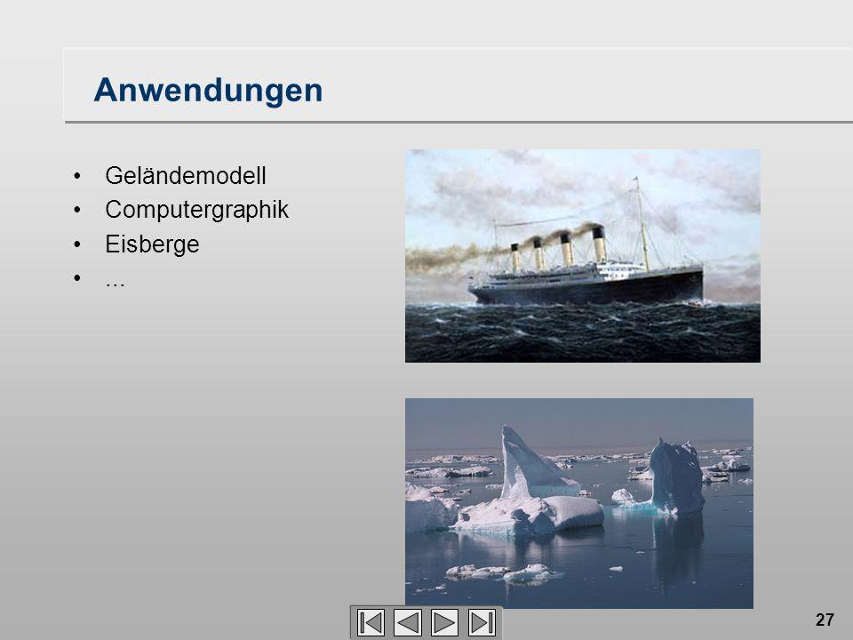27 Anwendungen Geländemodell Computergraphik Eisberge...