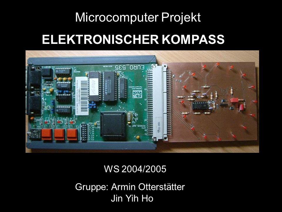 ELEKTRONISCHER KOMPASS Gruppe: Armin Otterstätter Jin Yih Ho Microcomputer Projekt WS 2004/2005
