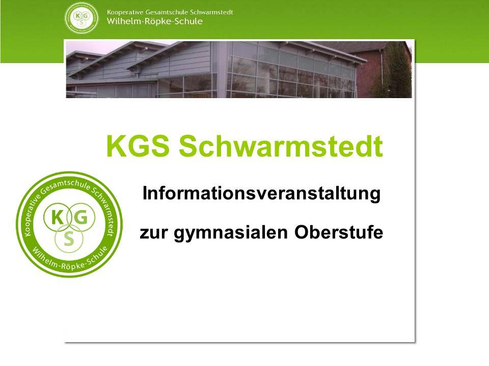 KGS Schwarmstedt Informationsveranstaltung zur gymnasialen Oberstufe