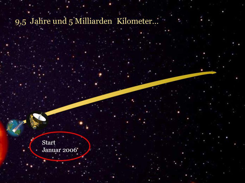 Start Januar 2006 9,5 Jahre und 5 Milliarden Kilometer…