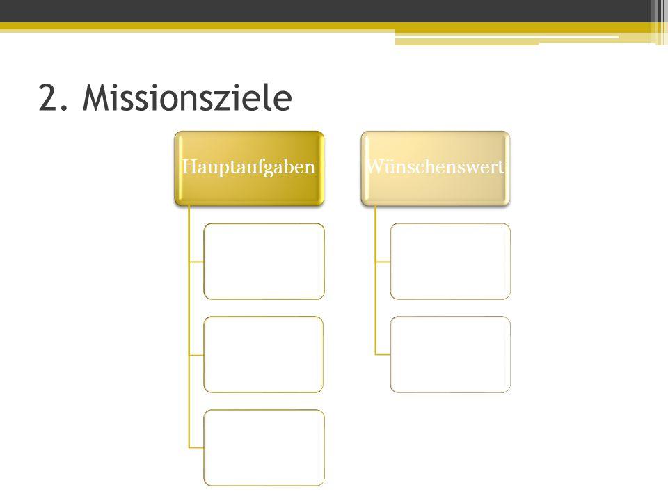 2. Missionsziele HauptaufgabenWünschenswert