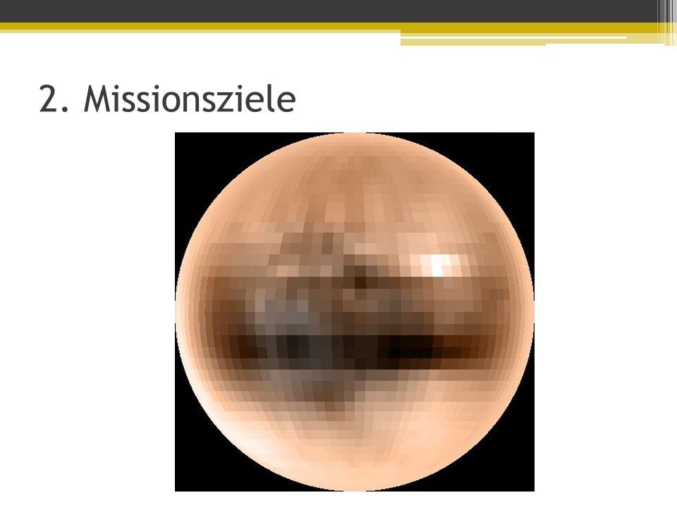 2. Missionsziele Hauptaufgaben Nahaufnahmen von Oberfläche Wünschenswert