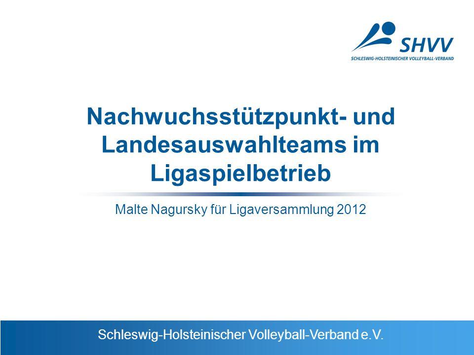 Schleswig-Holsteinischer Volleyball-Verband e.V. Nachwuchsstützpunkt- und Landesauswahlteams im Ligaspielbetrieb Malte Nagursky für Ligaversammlung 20