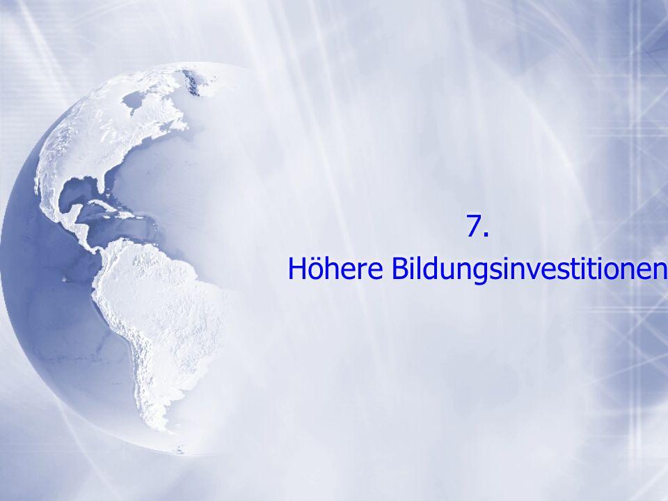 7. Höhere Bildungsinvestitionen 7. Höhere Bildungsinvestitionen