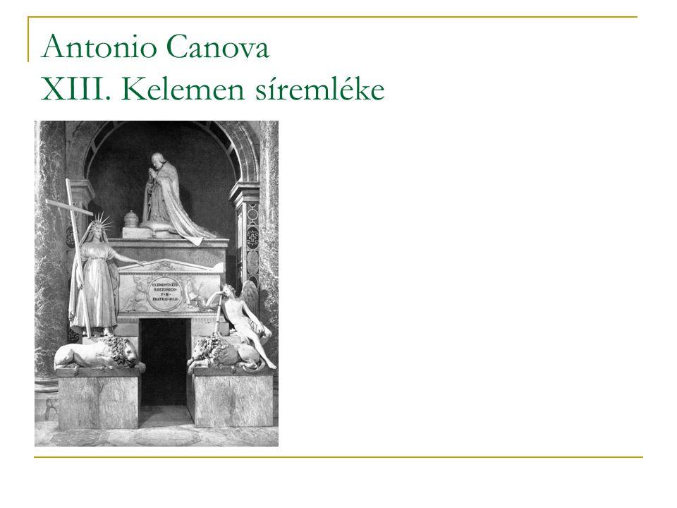 Antonio Canova XIII. Kelemen síremléke