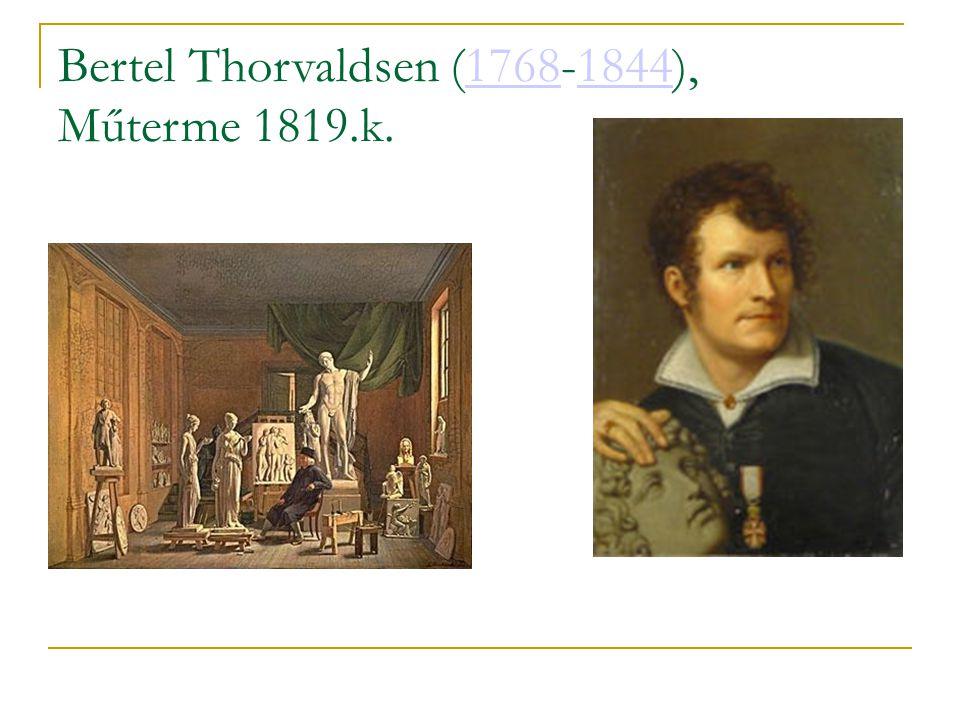 Bertel Thorvaldsen (1768-1844), Műterme 1819.k.17681844