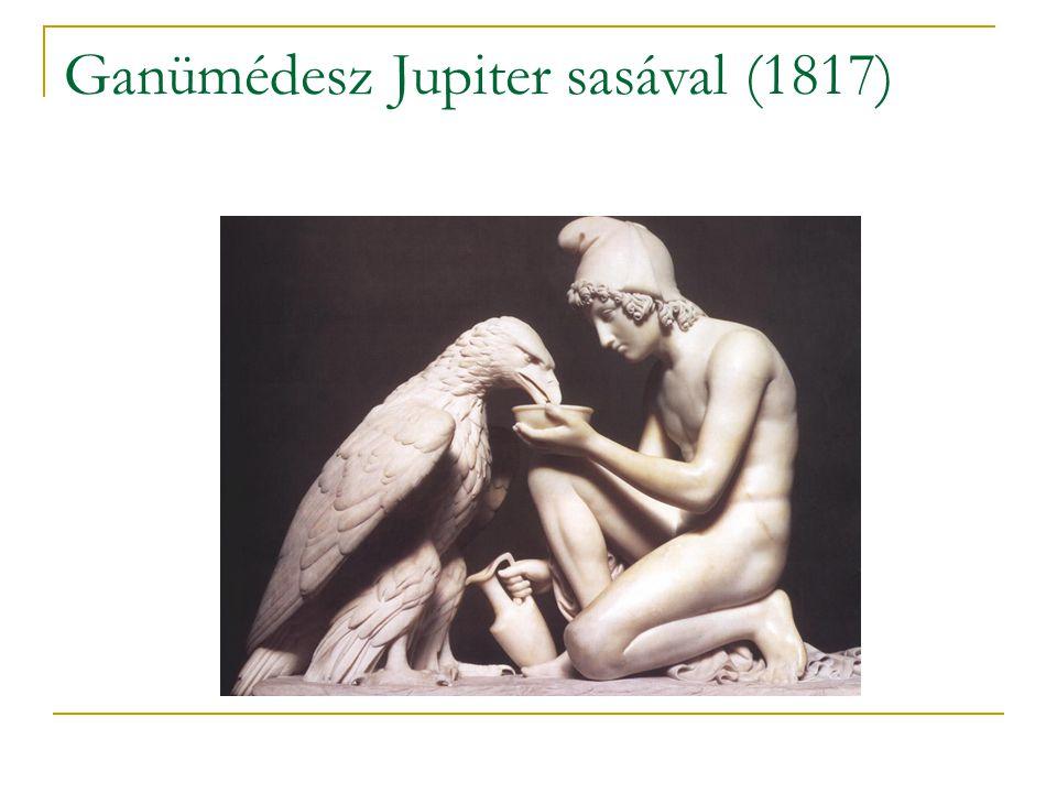 Ganümédesz Jupiter sasával (1817)