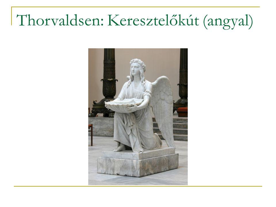 Thorvaldsen: Keresztelőkút (angyal)