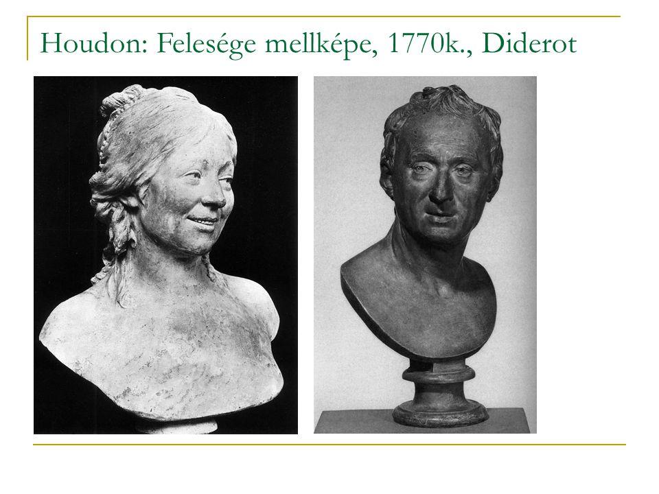 Houdon: Felesége mellképe, 1770k., Diderot