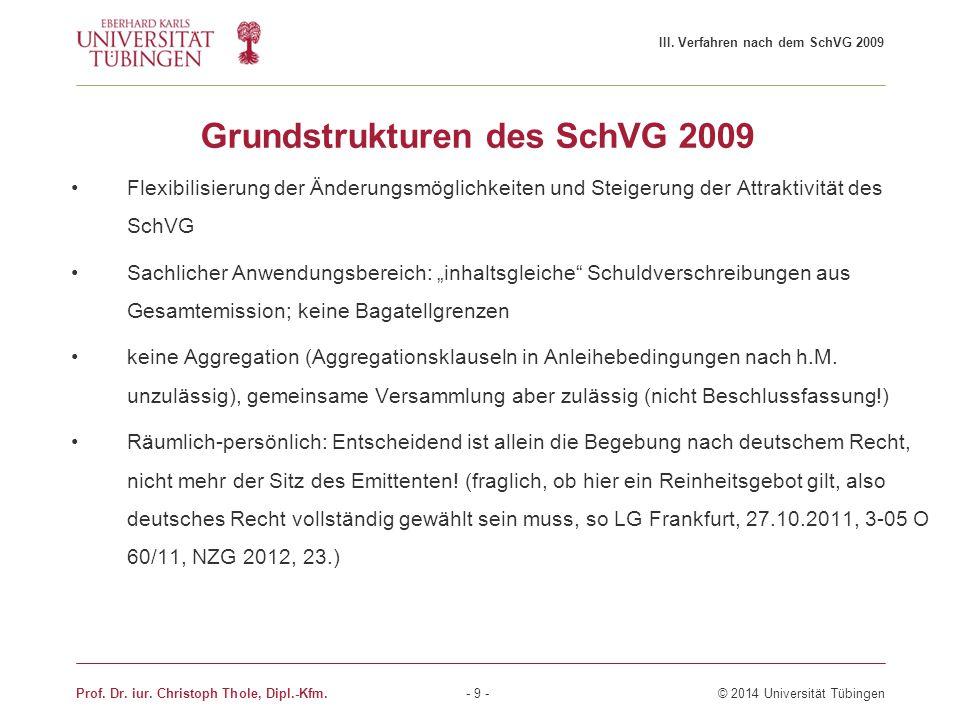 """Grundstrukturen des SchVG 2009 Flexibilisierung der Änderungsmöglichkeiten und Steigerung der Attraktivität des SchVG Sachlicher Anwendungsbereich: """"i"""