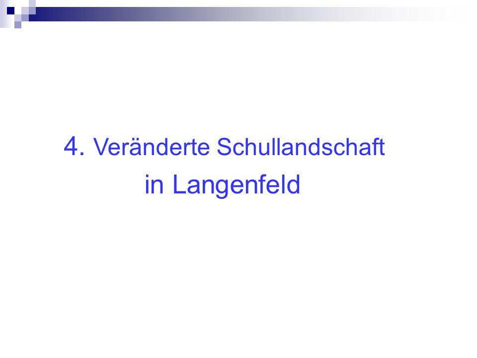 4. Veränderte Schullandschaft in Langenfeld in Langenfeld