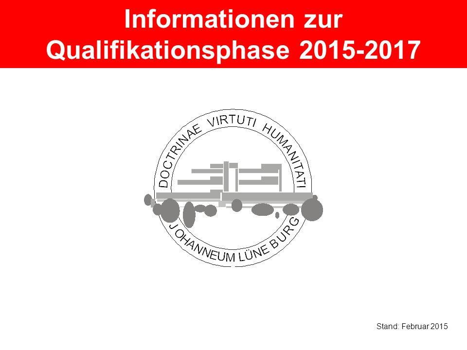 Informationen zur Qualifikationsphase 2015-2017 Stand: Februar 2015