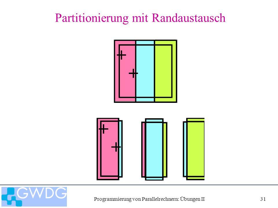Programmierung von Parallelrechnern: Übungen II31 Partitionierung mit Randaustausch
