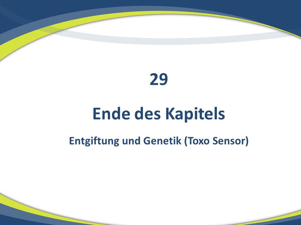 Ende des Kapitels Entgiftung und Genetik (Toxo Sensor) 29