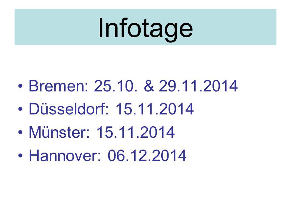 Infotage Bremen: 25.10.