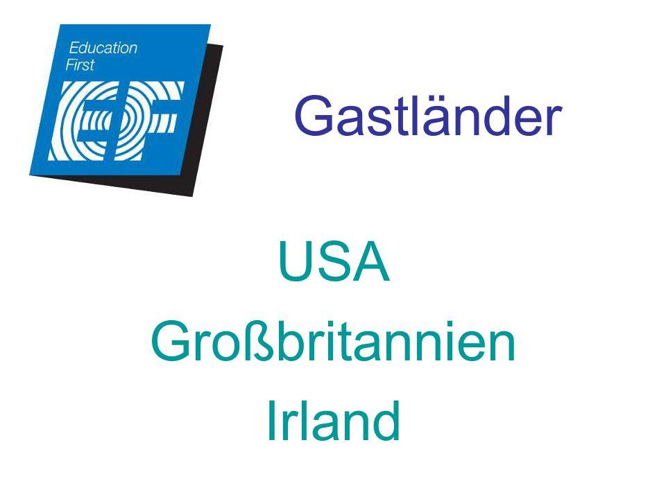Gastländer USA Großbritannien Irland