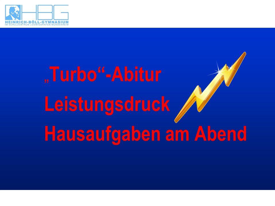 """"""" Turbo""""-Abitur Leistungsdruck Hausaufgaben am Abend"""