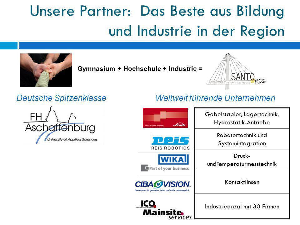 Unsere Partner: Das Beste aus Bildung und Industrie in der Region Gabelstapler, Lagertechnik, Hydrostatik-Antriebe Robotertechnik und Systemintegratio