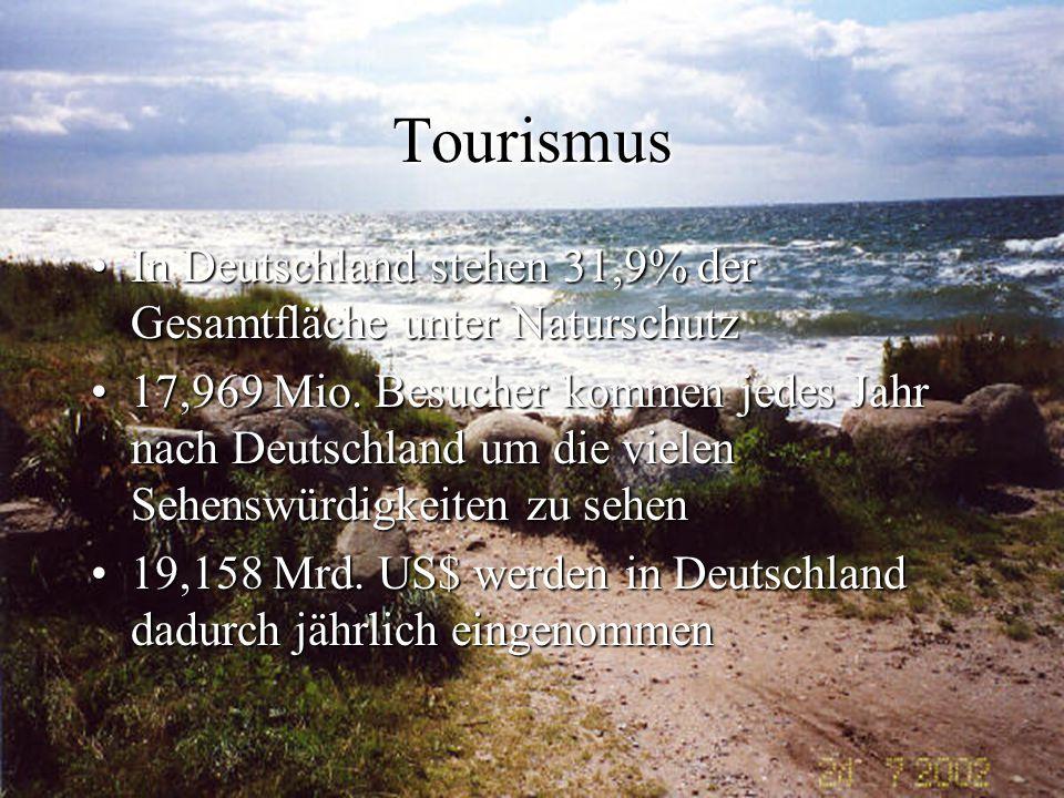 Tourismus In Deutschland stehen 31,9% der Gesamtfläche unter NaturschutzIn Deutschland stehen 31,9% der Gesamtfläche unter Naturschutz 17,969 Mio. Bes