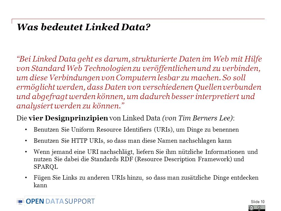 Was bedeutet Linked Data.
