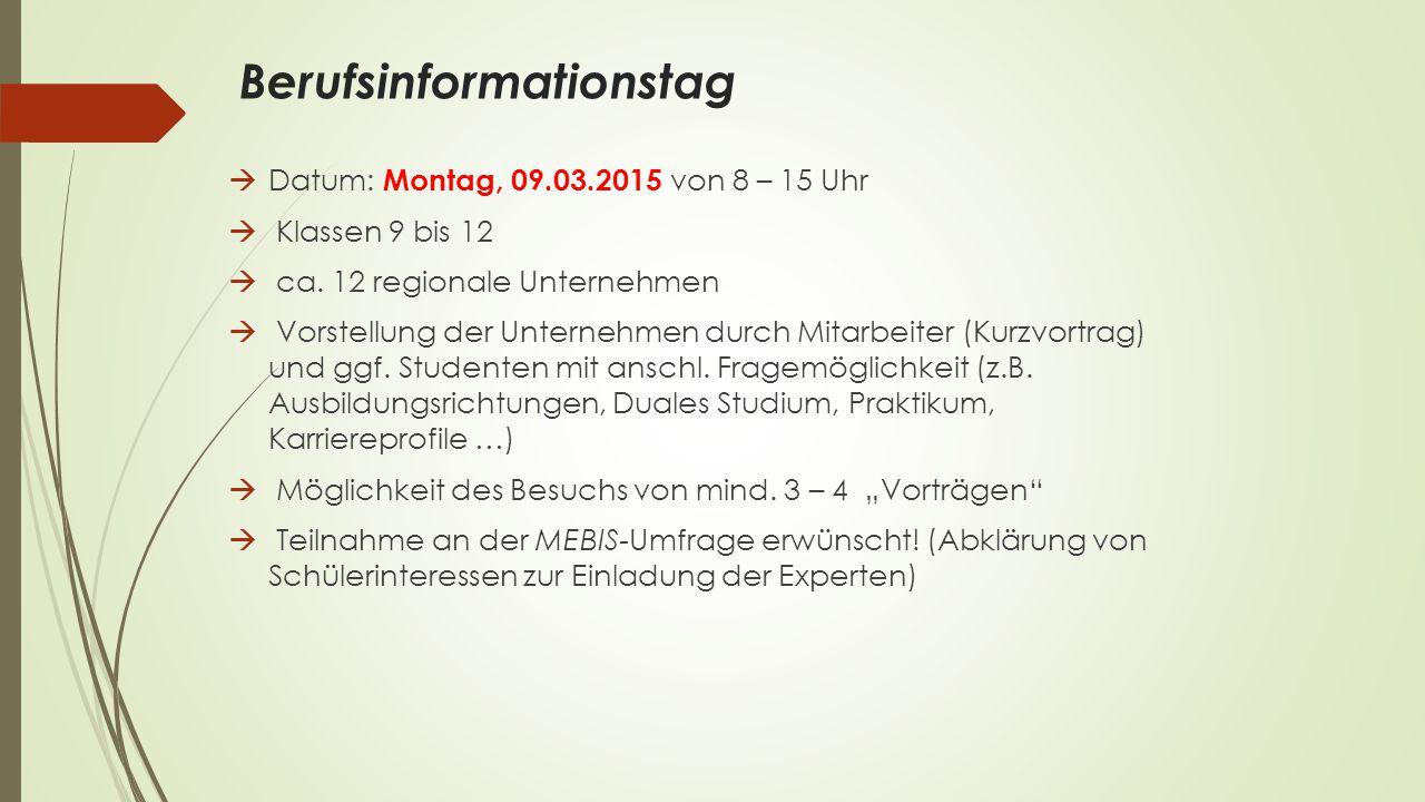 Das Betriebspraktikum am Dominicus von Linprun Gymnasium Allgemeines  verpflichtende schulische Veranstaltung  Praktikumswoche/Fahrtenwoche 20.