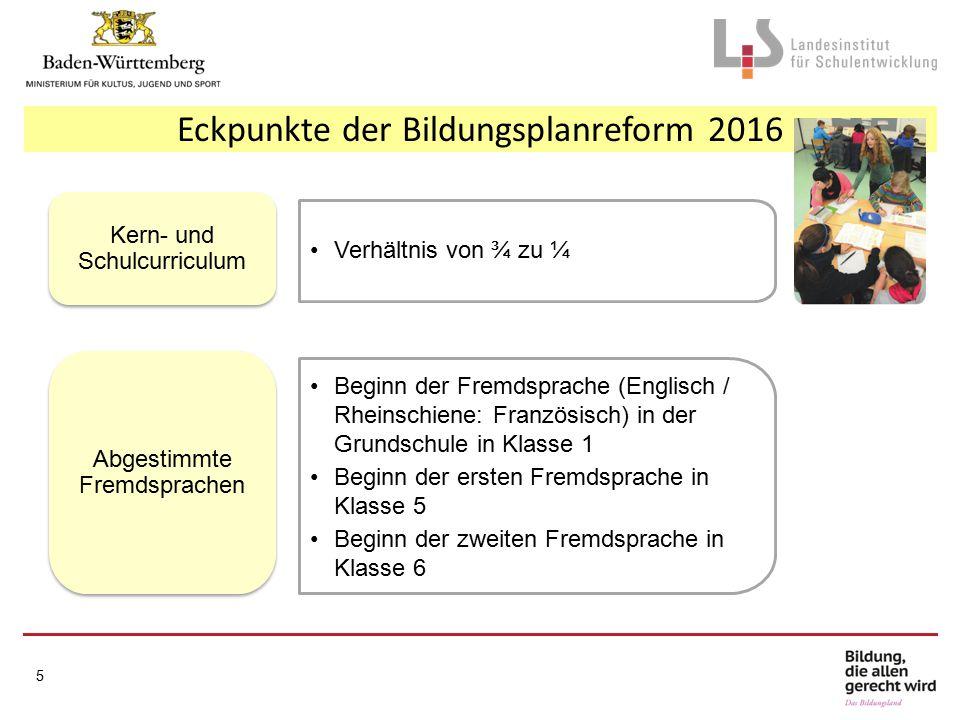 Meilensteine Regionale Lehrkräftefortbildung (Grundschule, Sekundarstufe I) Regionale LFB (Gymnasium) 16 September 2013September 2014Herbst 2015September 2016 Erprobung: Grundschule (Kl.
