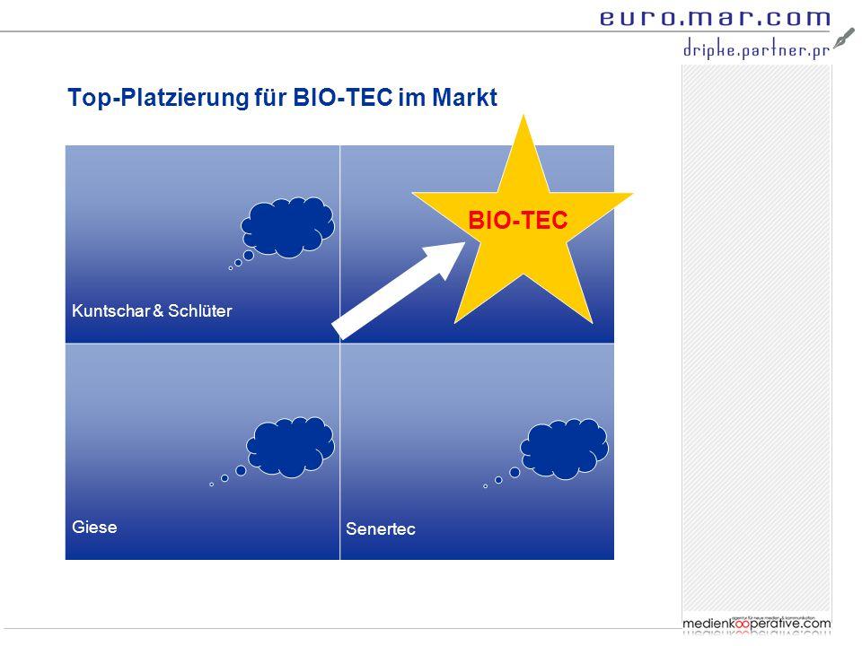Top-Platzierung für BIO-TEC im Markt Kuntschar & Schlüter Giese BIO-TEC Senertec