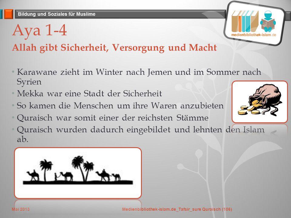 Frage: Was hast du daraus gelernt? Mai 2013Medienbibliothek-islam.de_Tafsir_sure Quraisch (106)