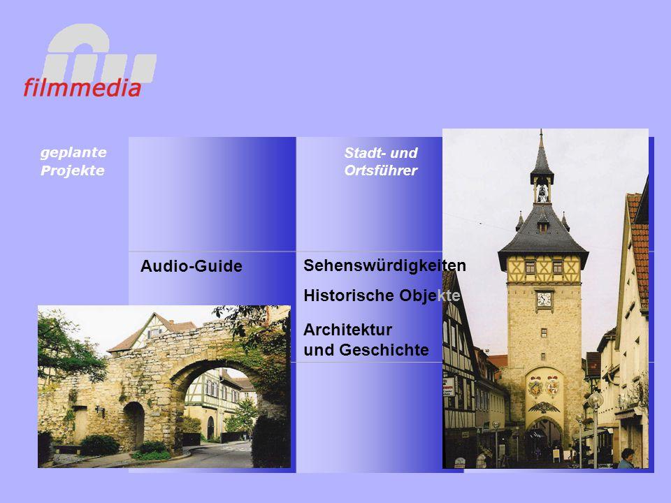 Audio-Guide Stadt- und Ortsführer geplante Projekte Sehenswürdigkeiten Historische Objekte Architektur und Geschichte
