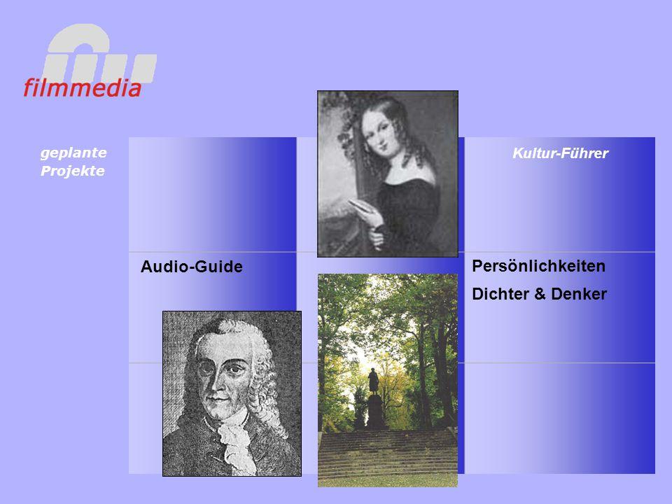 Audio-Guide Kultur-Führer Persönlichkeiten geplante Projekte Dichter & Denker