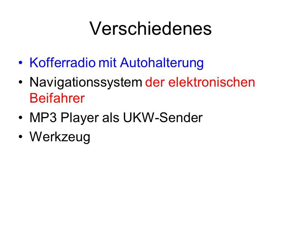 Verschiedenes Kofferradio mit Autohalterung Navigationssystem der elektronischen Beifahrer MP3 Player als UKW-Sender Werkzeug