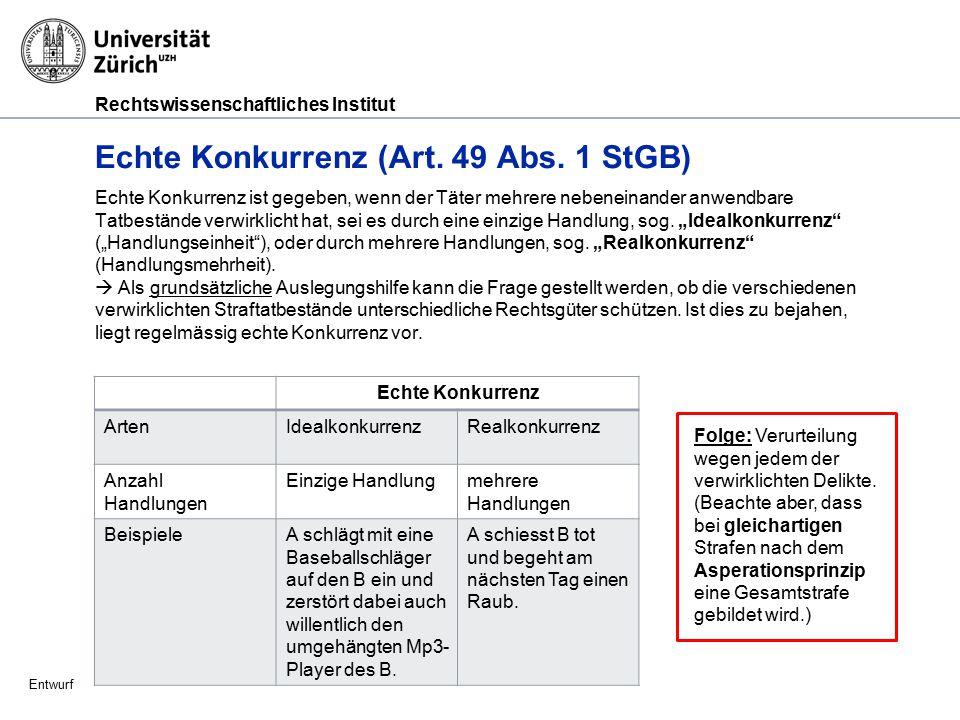 Rechtswissenschaftliches Institut Entwurf Asperationsprinzip (Art.
