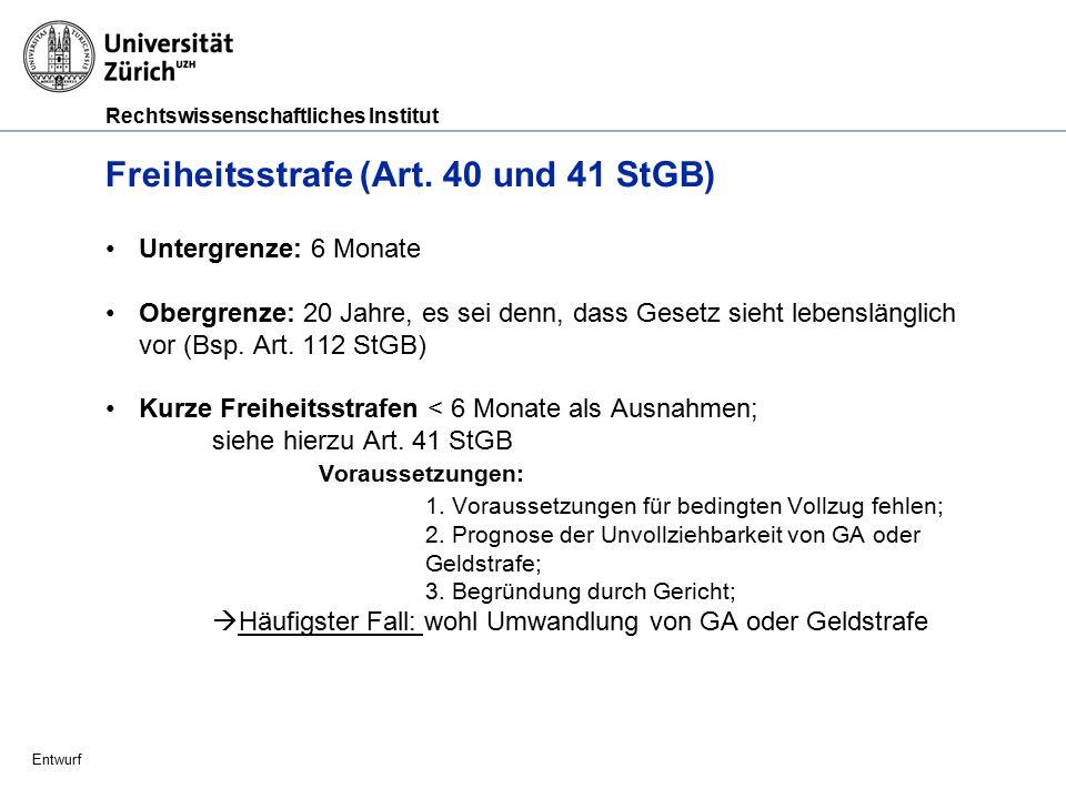 Rechtswissenschaftliches Institut Entwurf Busse (Art.