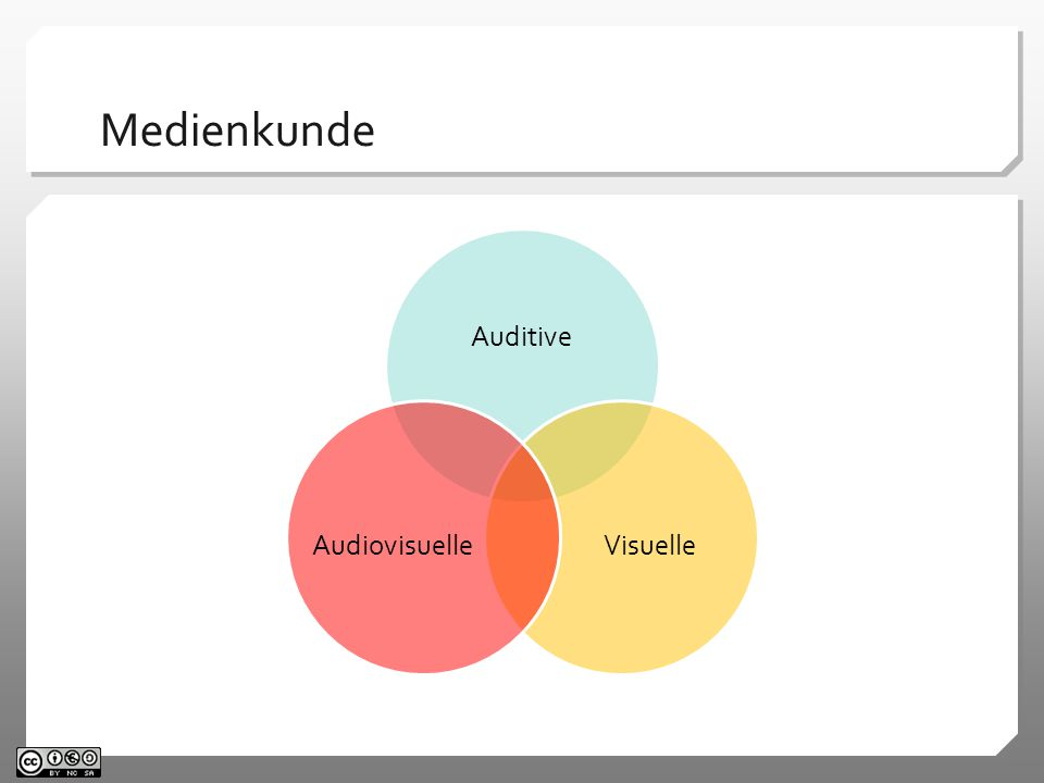 Medienkunde Auditive VisuelleAudiovisuelle