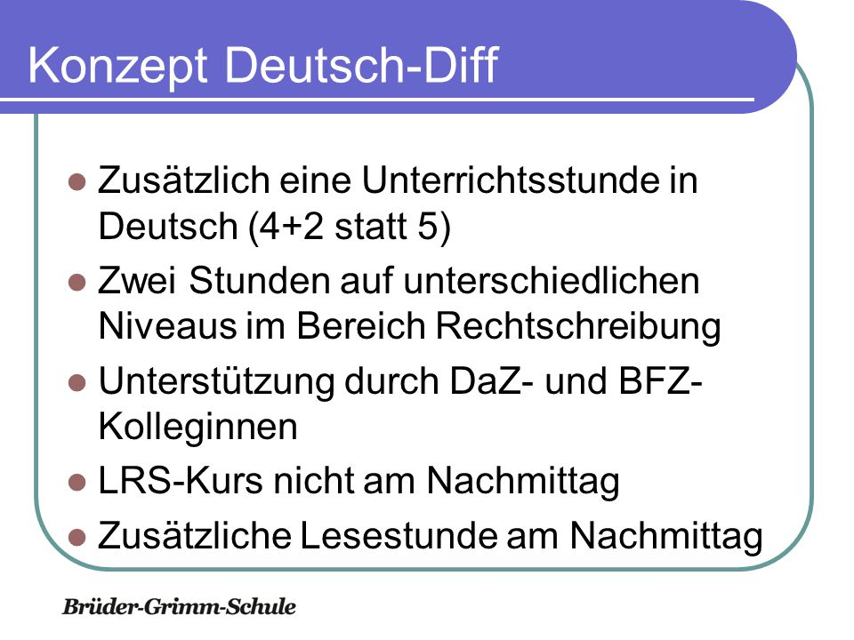 Methodische Förderung Zusätzliche Klassenlehrerstunde für die Bereiche Methodenlernen/ Lions-Quest Präsentationen Lernplakate PowerPoint Informationsrecherche