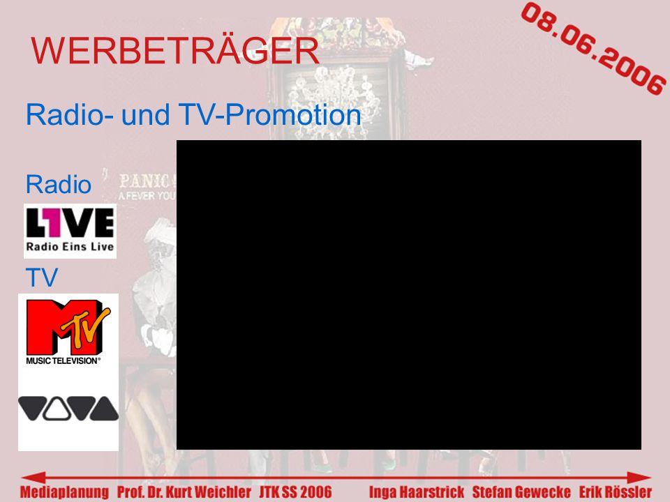 WERBETRÄGER Radio- und TV-Promotion Radio TV