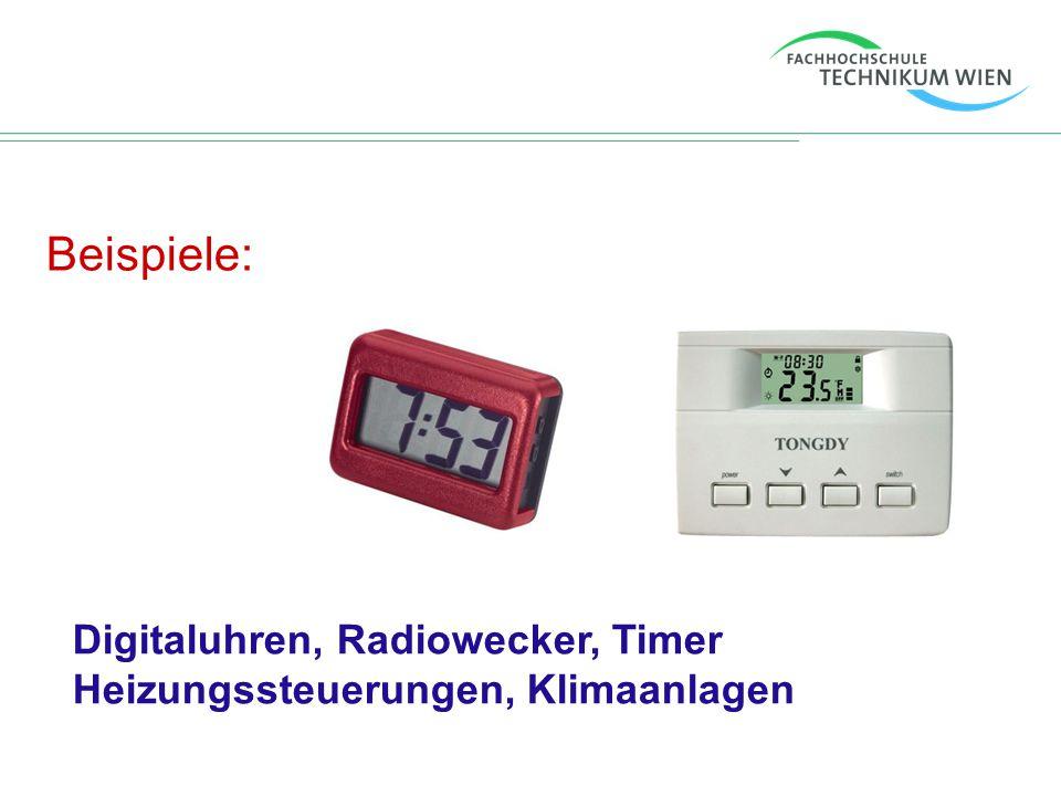 Beispiele: Unterhaltungselektronik und Kommunikationstechnik: Ipod / Mp3-Player, Handy, PDA, Taschenrechner