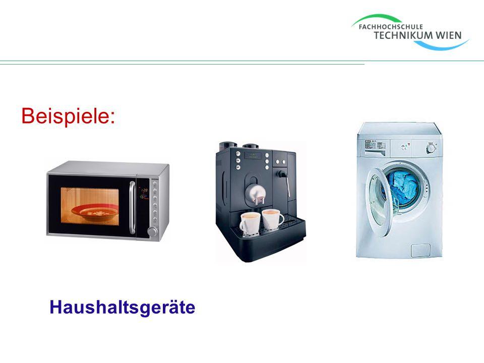 Beispiele: Haushaltsgeräte