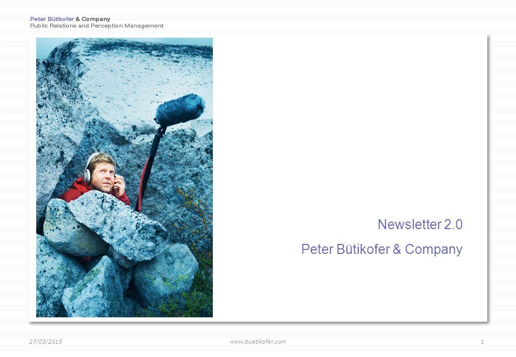www.buetikofer.com 27/03/2015 2 Teil 1: Einführung Peter Bütikofer & Company