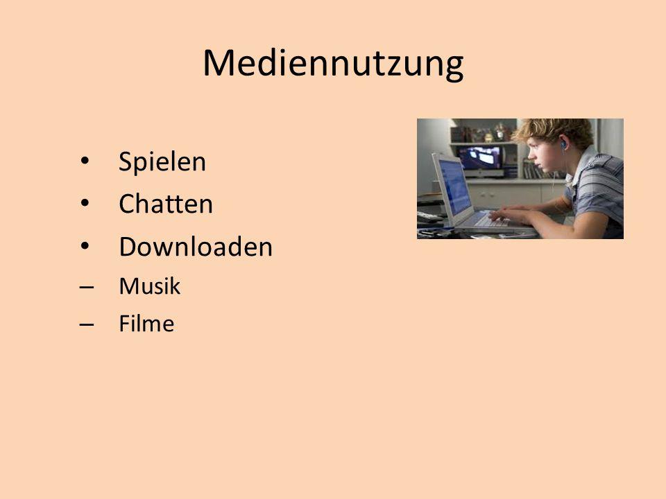 Mediennutzung Spielen Chatten Downloaden – Musik – Filme