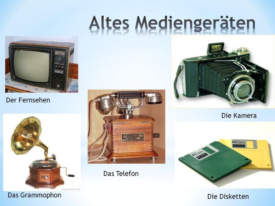 Die Kamera Das Grammophon Der Fernsehen Das Telefon Die Disketten