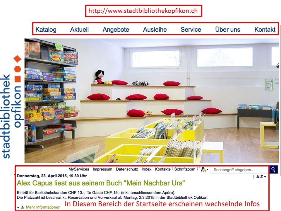 """Startseite der """"Digitalen Bibliothek Ostschweiz Nächste Folie Übernächste Folie"""