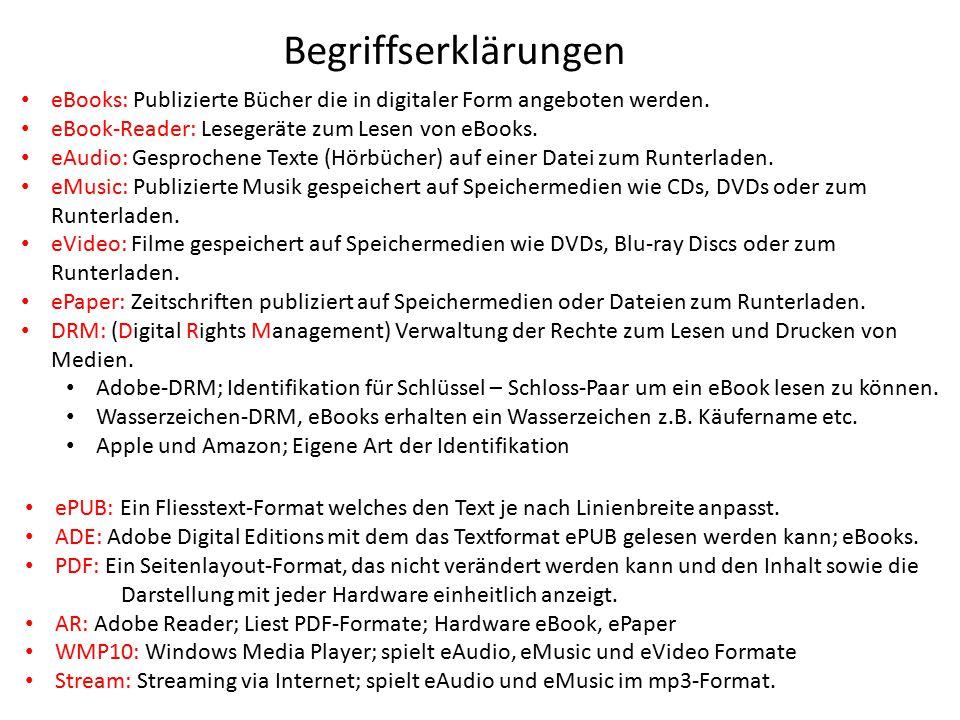 Stand: November 2014 Inhalt 1.Voraussetzungen 2.Adobe Digital Editions installieren 3.Adobe ID erstellen 4.Adobe Digital Editions mit Ihrer Adobe ID autorisieren 5.Titel in den Medienkorb legen 6.Ausleihen 7.Anmelden 8.Download 9.Wiedergabe auf dem Computer 10.Fehlermeldungen 1.