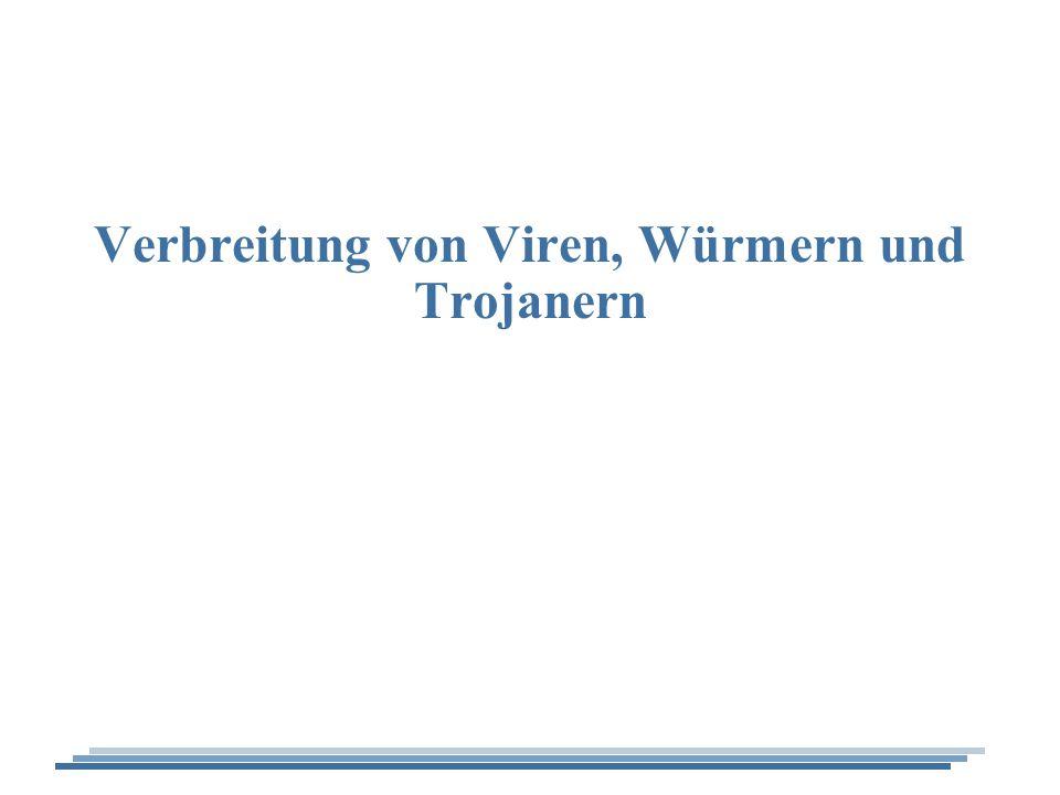 Verbreitung von Viren, Würmern und Trojanern - 2 Wie verbreiten sich Viren.